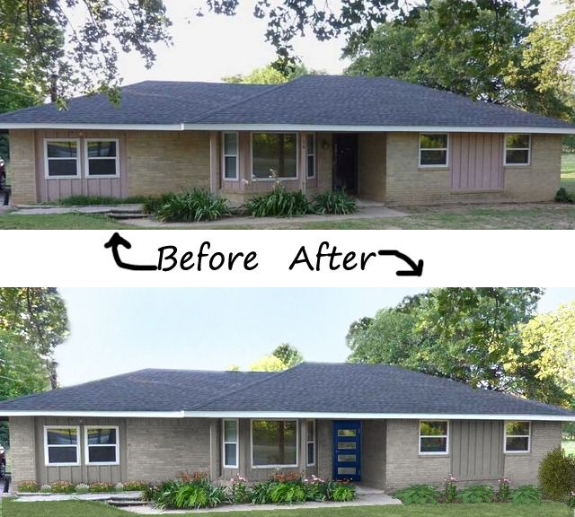 Navy Contemporary Before And After My Front Door Is In A Corner