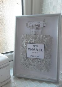 Glitter picture Chanel no 5 with lots of silver glitter ...