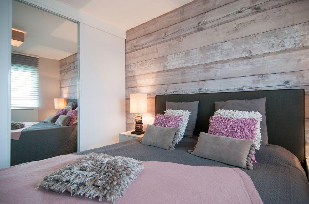 slaapkamer muur steigerhout muur slaapkamer wand in de slaapkamer, Deco ideeën