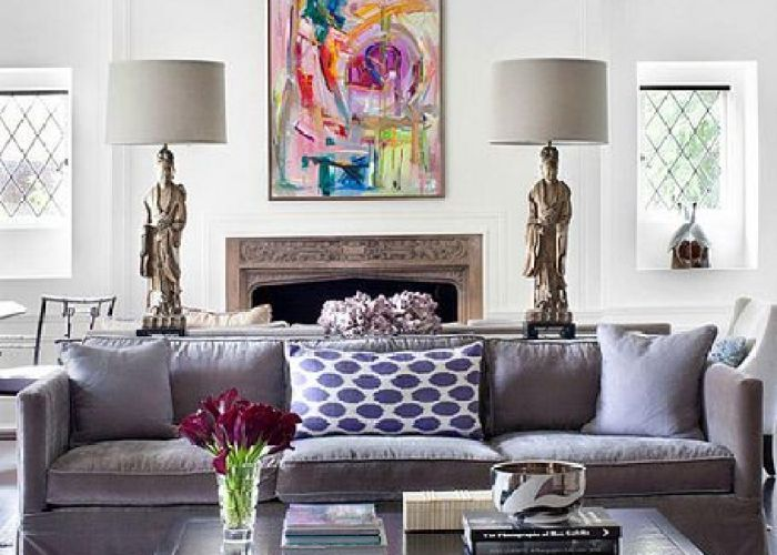 Living room with accents of purple also livings pinterest