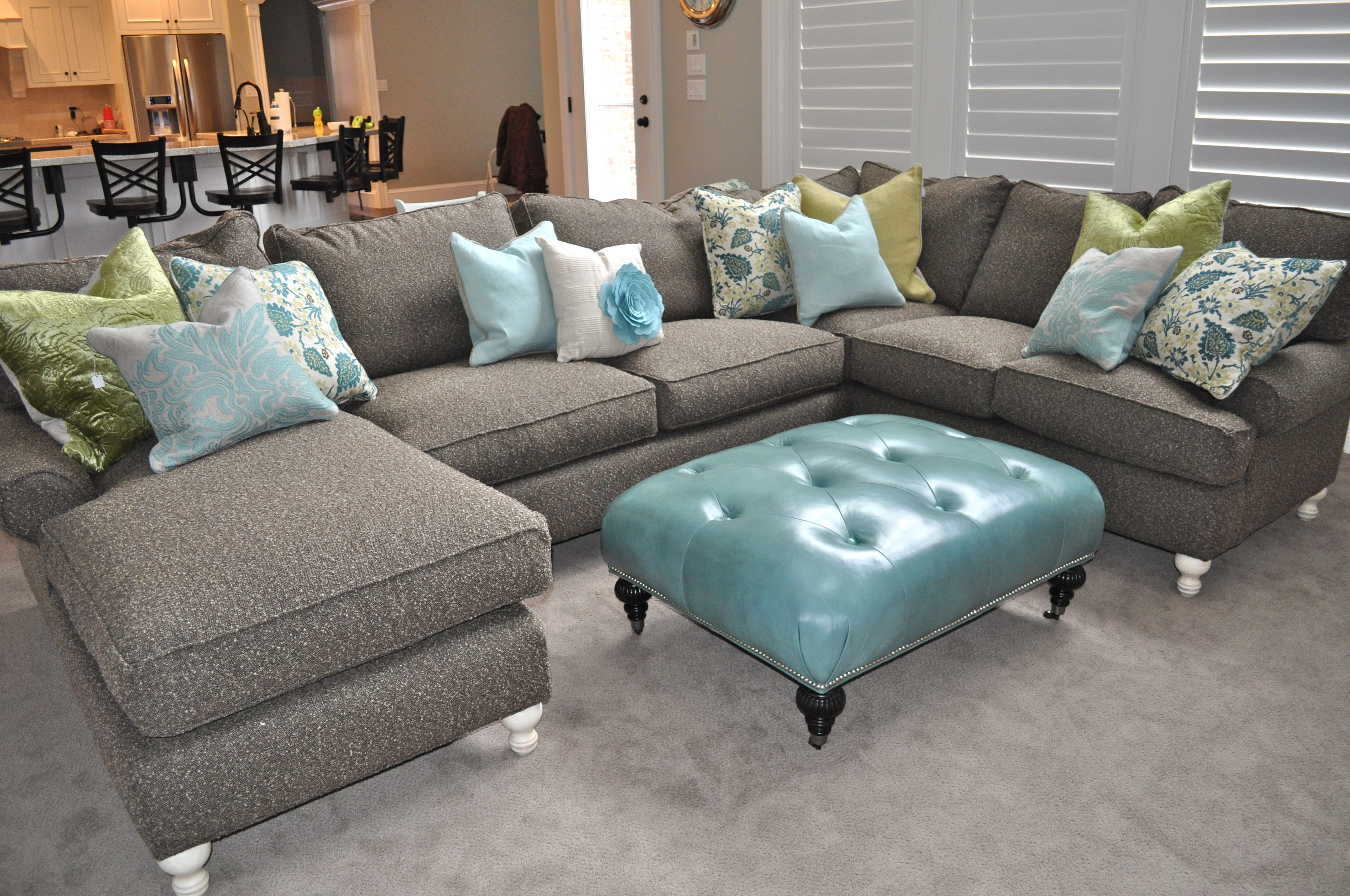 Yellow Gray And Turquoise Living Room
