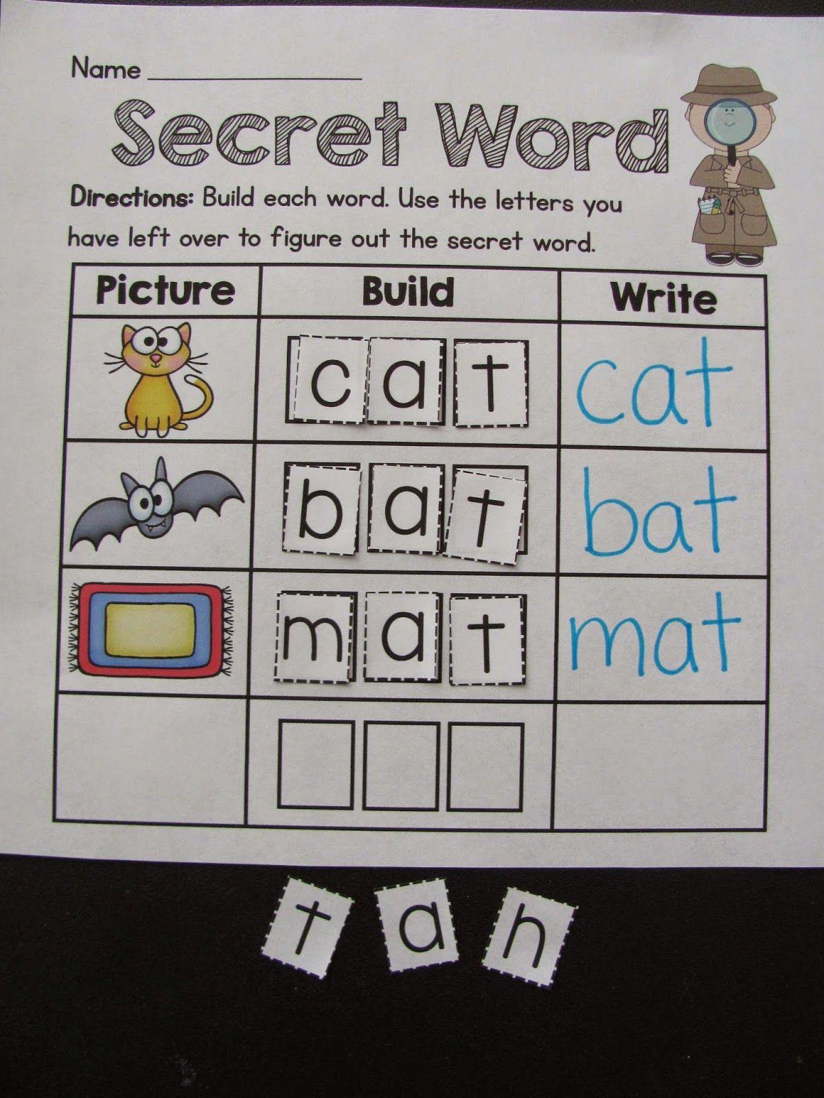 Secret Word Activity Kids Love