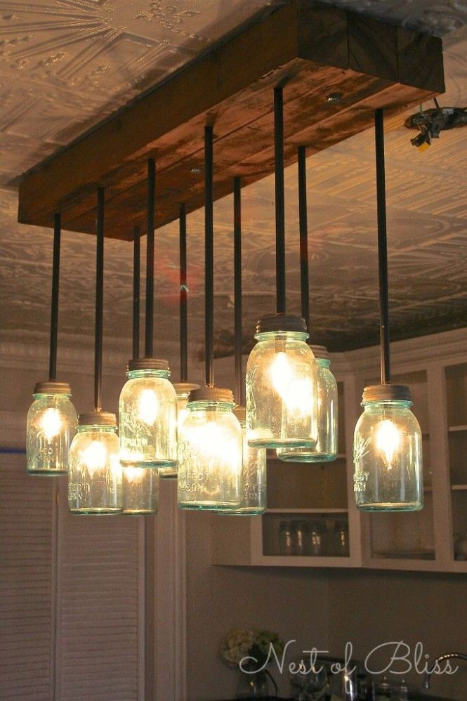 Love This Tutorial Build It Diy Mason Jar Chandelier From Nest Of Bliss