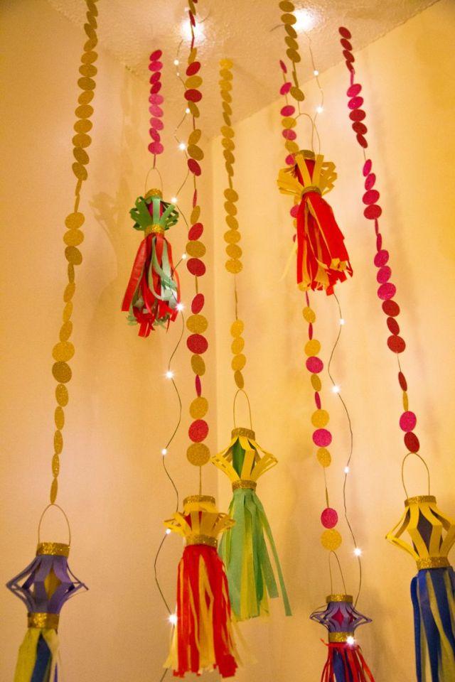 Image result for paper decoration for diwali