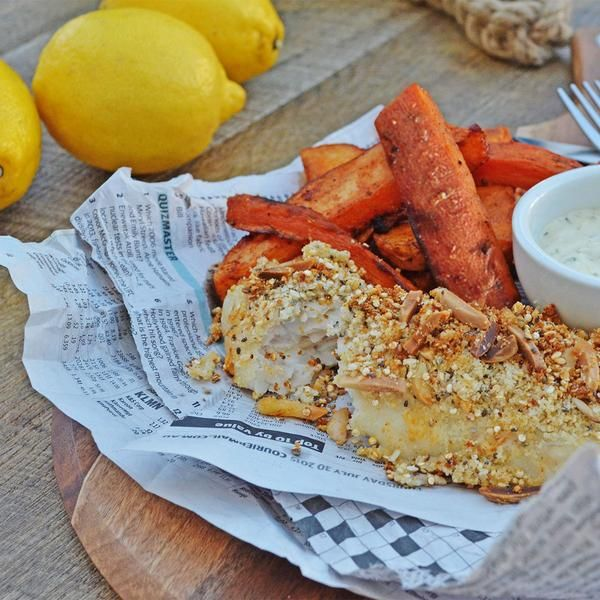 Резултат со слика за How to make seed - crusted fish and chips