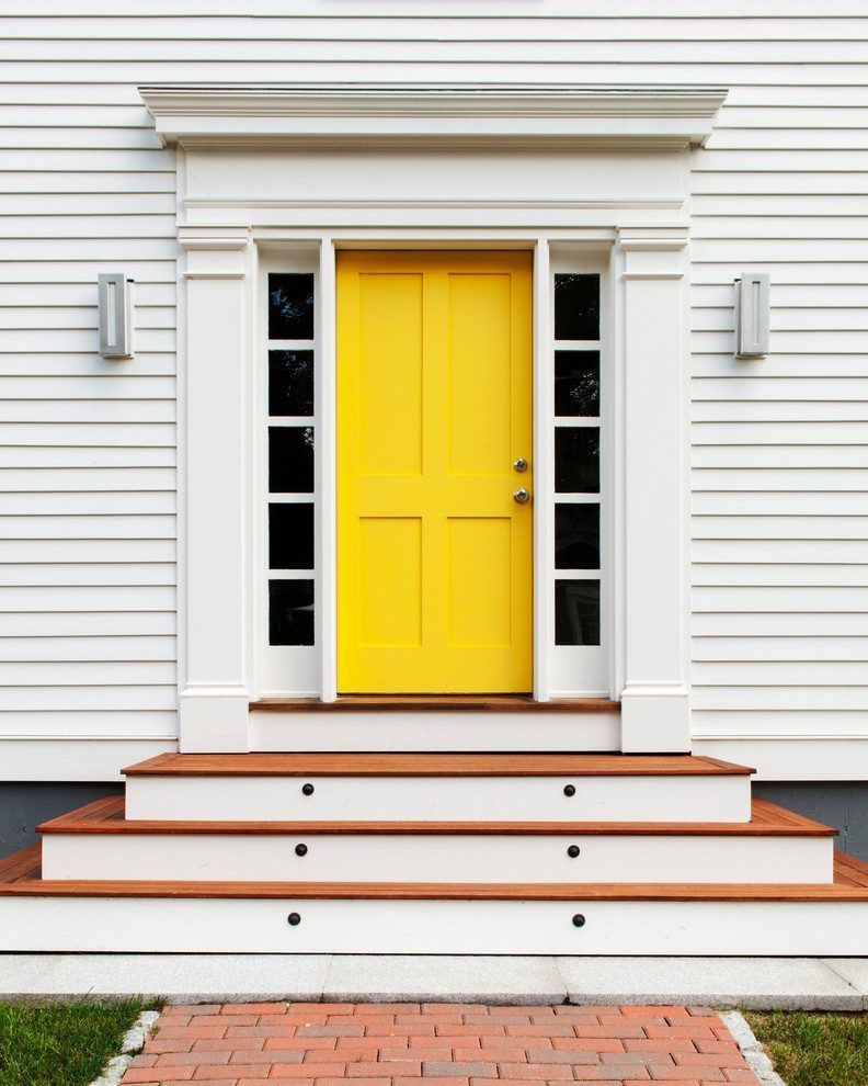 Beach House Front Door Ideas Entry Transitional With Yellow Front