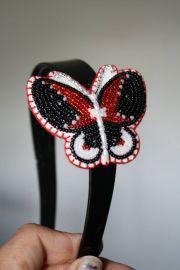 beaded butterfly headband beadwork