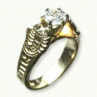 Custom Astrological Engagement Ring Photo-etched reverse ...