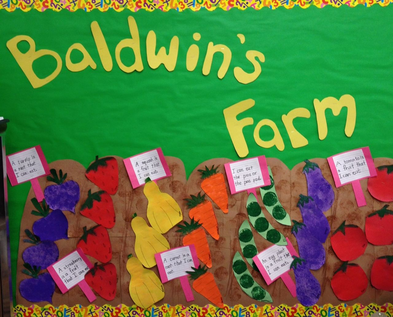 Vegetable Garden Bulletin Board