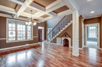 Gorgeous coffered ceiling & paint color combo