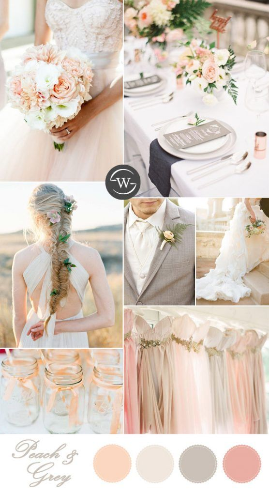 10 Romantic Spring  Summer Wedding Color Palettes for