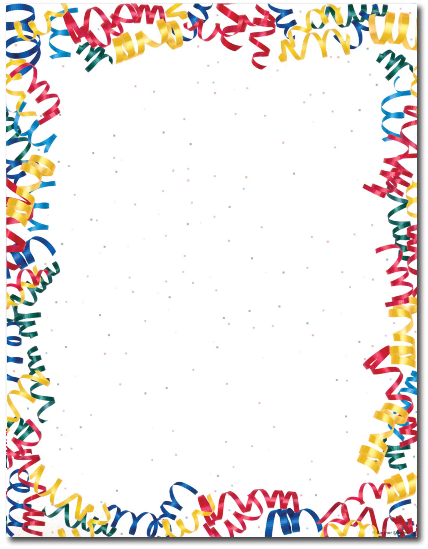 Streamers Confetti And Frames Art Borders Clip