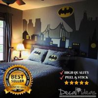 Superhero Wall Decal Gotham City Wall Decal Batman Sticker ...
