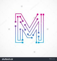 stock-vector-abstract-letter-m-logo-design-template ...