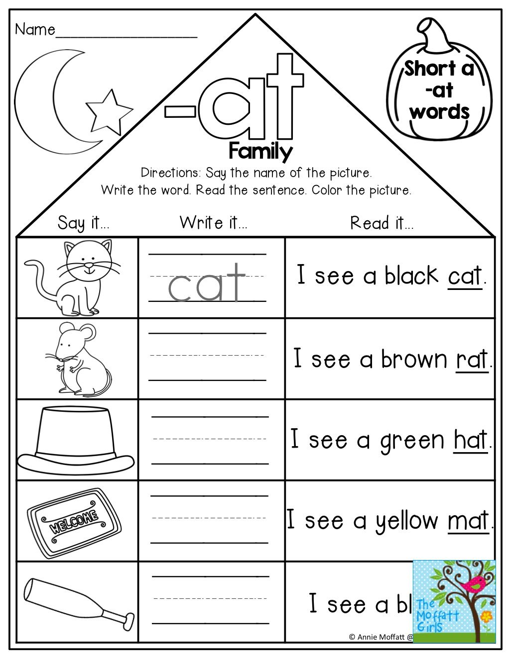Worksheet Am Word Family Worksheets Worksheet Fun