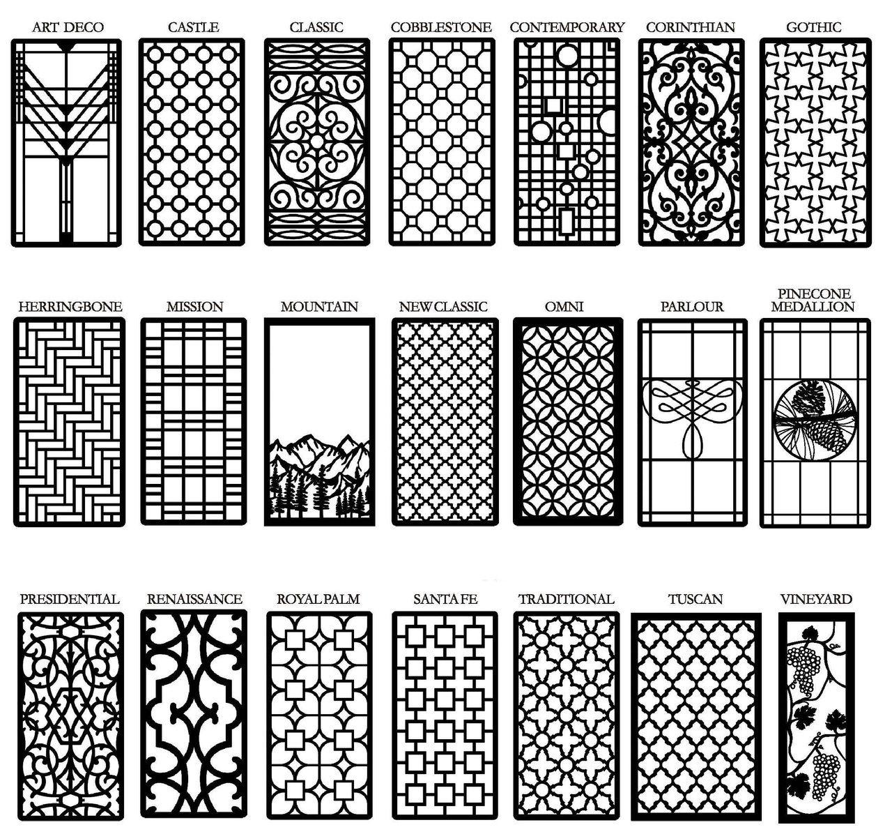 Decorative Cabinet, Window & Door Insert Grilles