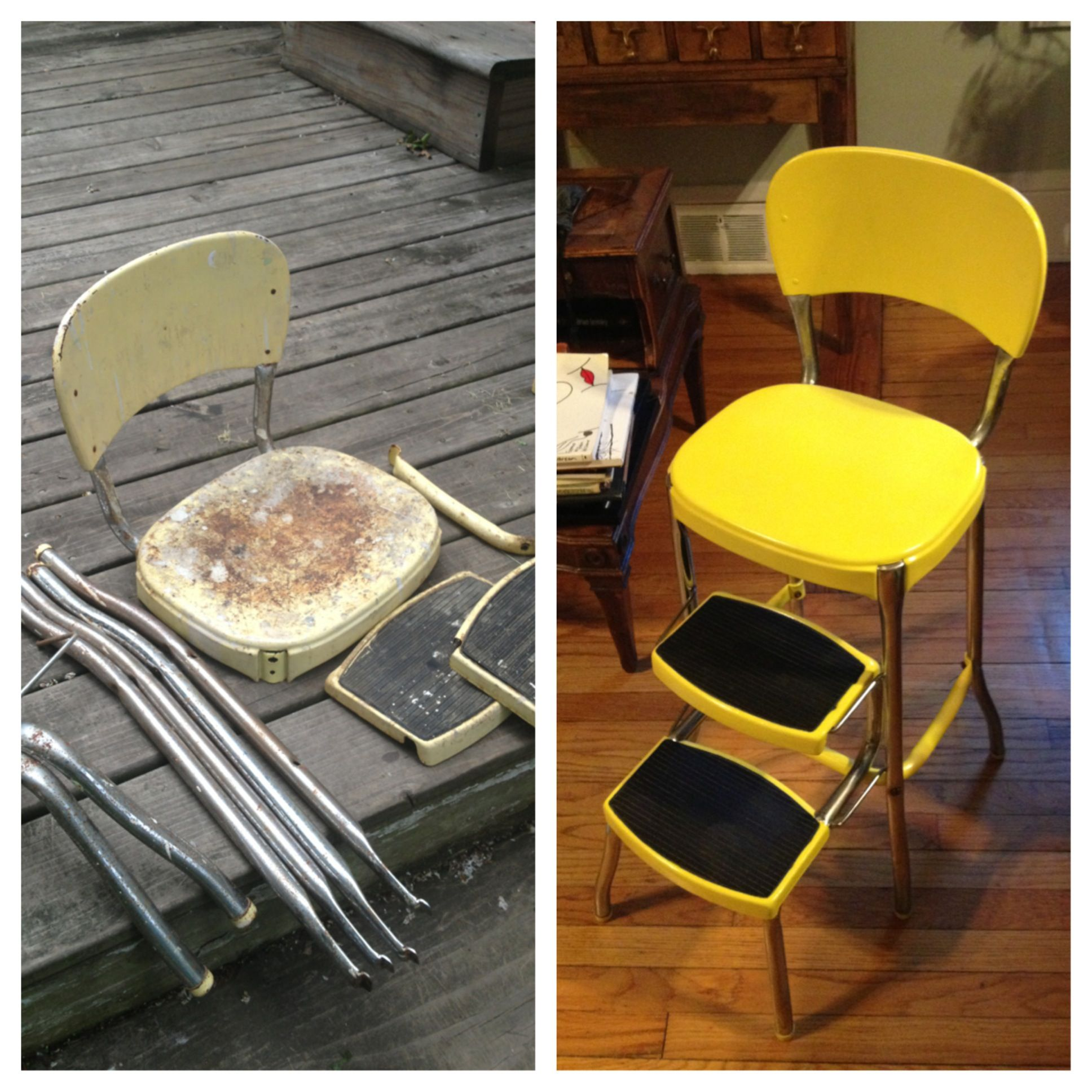 vintage kitchen step stool chair b&q kitchens restore i want one of these