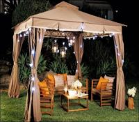 Living Home Outdoors 10x12 Gazebo with Solar Lights ...