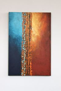 Light blue turquoise orange yellow rust brown | arts ...