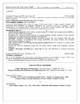 Professional Mid Level Resume Sample #1 Page 2 Professional