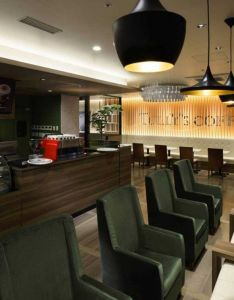 Tullys coffee shop remm kagoshima by aiji inoue  yasuo kanai japan cafe also counter bar and booth commercial spaces pinterest rh