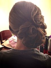 vintage updo pin curls wedding