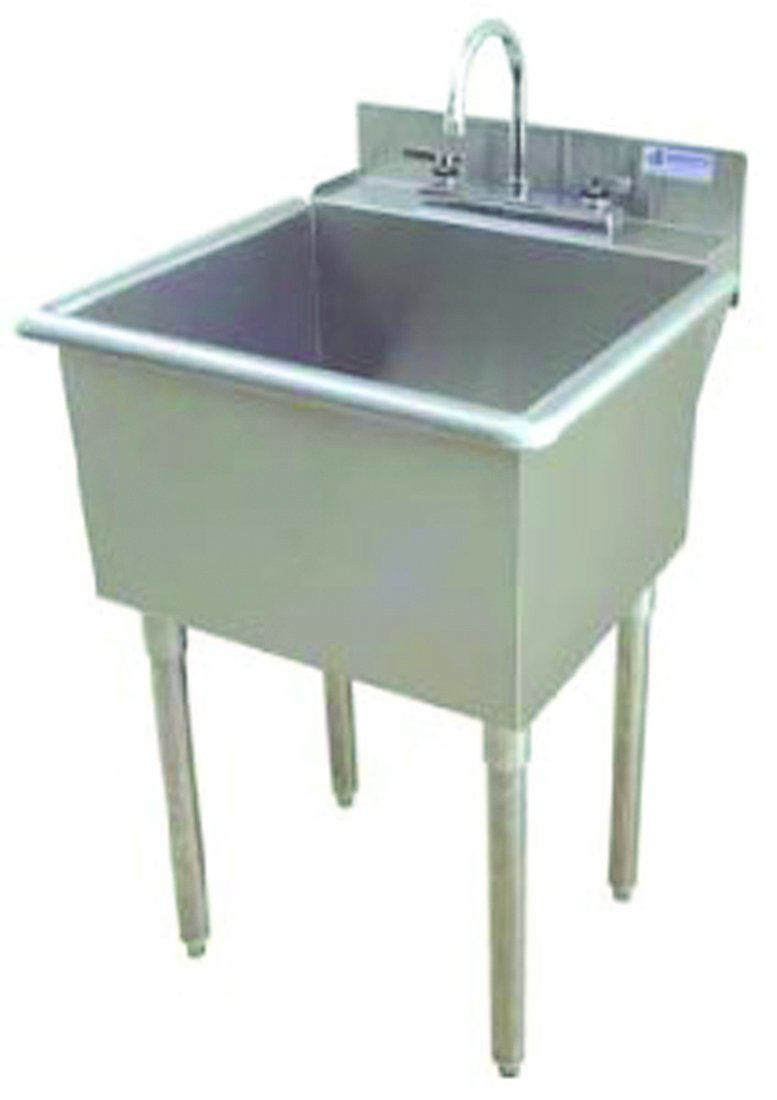 Griffin LT118 Utility Sink with Drain Stainless Steel