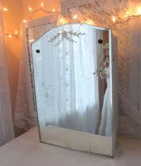 Vintage Medicine Cabinet with MIrror Beveled by ...