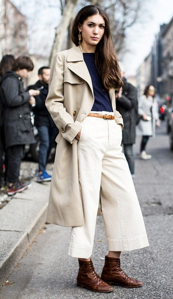 how to give your wide leg pants the cool girl treatment
