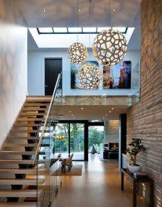 Entrance hallway in elegant modern house west vancouver canada also image result for david trubridge coral light pioneerbuilding rh za pinterest