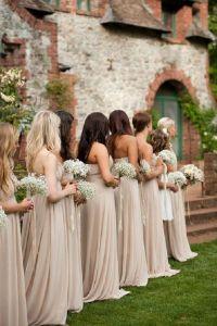long neutral bridesmaid dresses | Wedding | Pinterest ...