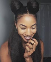 natural hair hairstyles buns