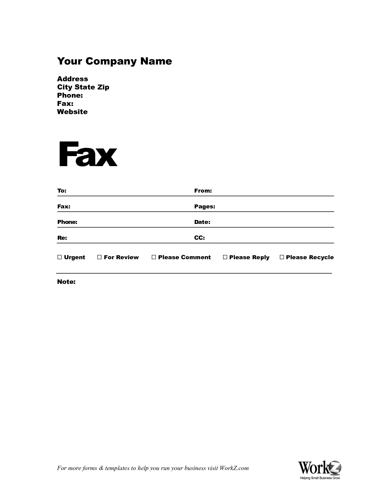 Fax Resume Cover Letter