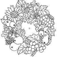 Herbst 03 ausmalen gratis   fruits and vegetables ...