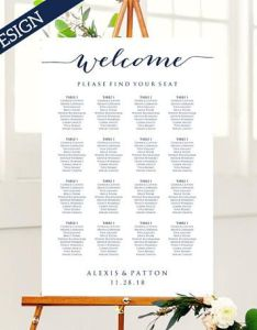 Wedding seating chart template instantly download edit and print your own charts for also rh pinterest