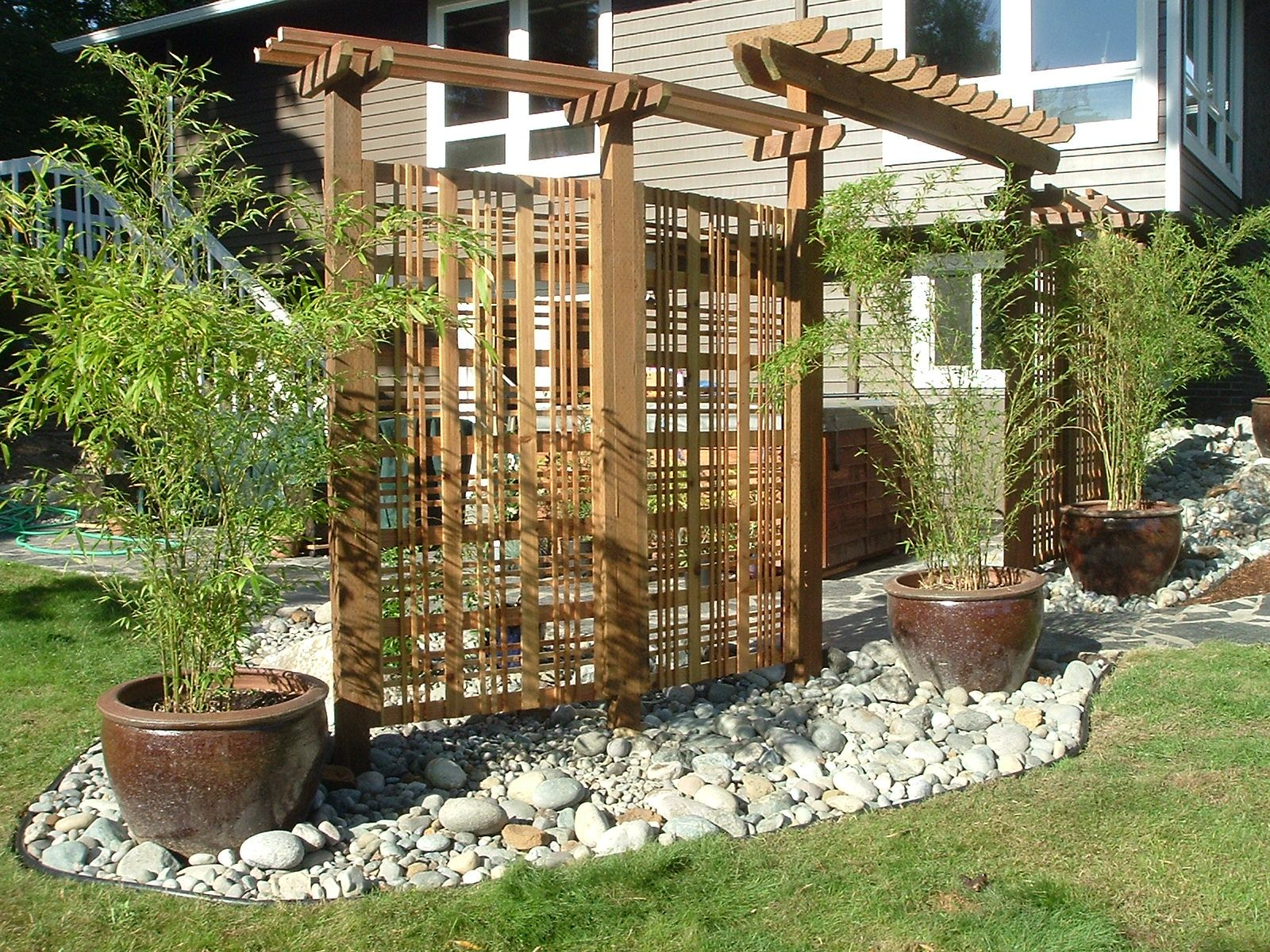 Exteriors Decorative Wooden Privacy Screen Designs For Creating
