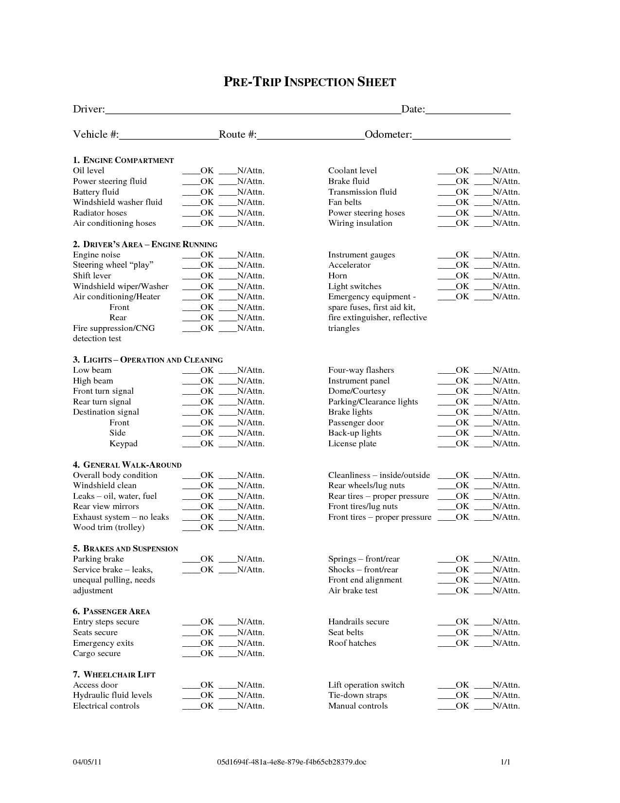 cdl pre trip inspection diagram modine pdp 150 wiring free checklist sheet