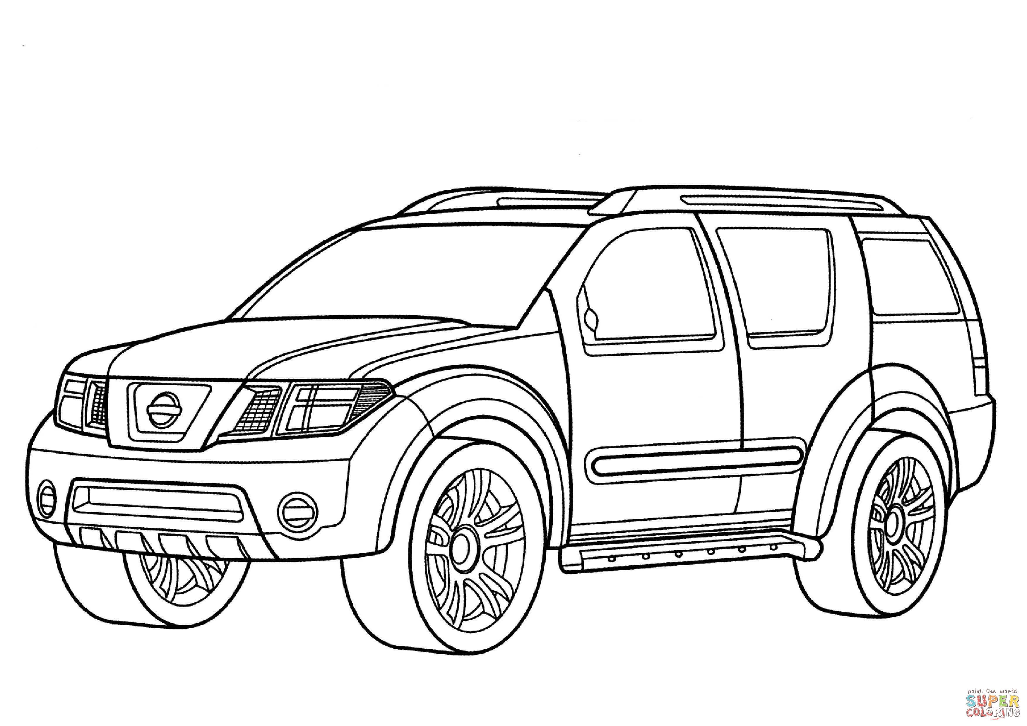 Nissan Dunehawk Coloring Page