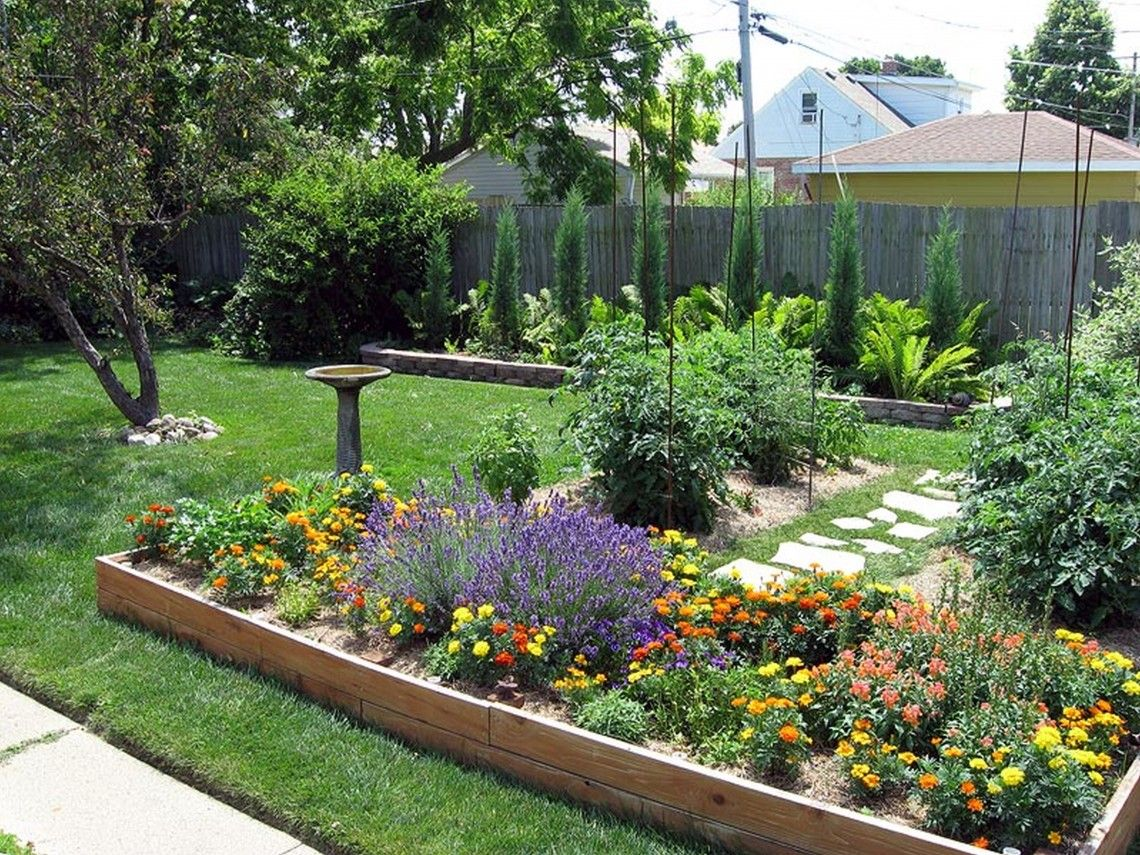 Backyard Features Fancy Small Residential Backyard Garden Plans