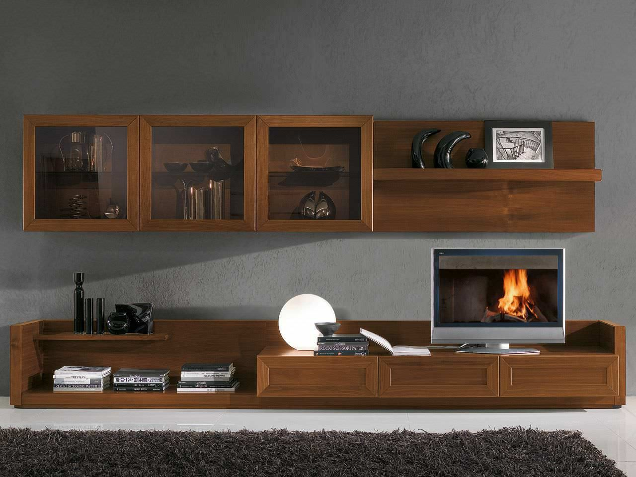 Muebles Para Tv Modernos Mueble tv moderno en madera  Ideas de inspiracin  Pinterest  Cabinet drawers Tv units and Consoles