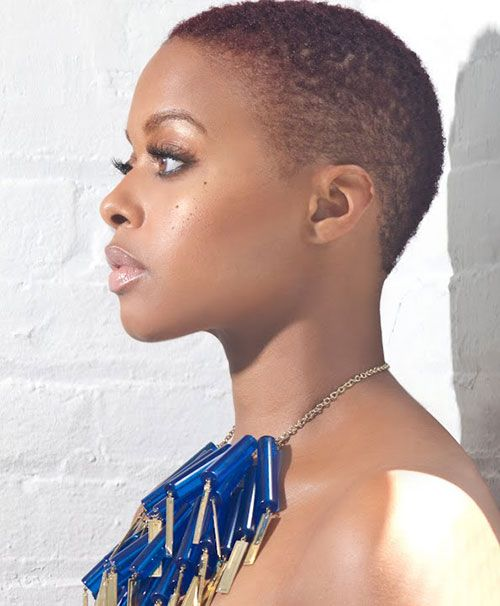 Stunning Super Short Natural Haircut African American In 30's