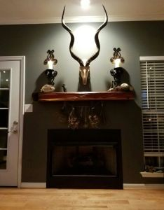 Would look great inside interior wall log cabin the coolest decorated home also wood mantel rh pinterest