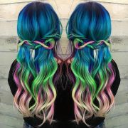 beautiful rainbow gradient hair