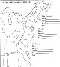 Blank 13 Colonies Map Worksheet | 5th Social Studies ...