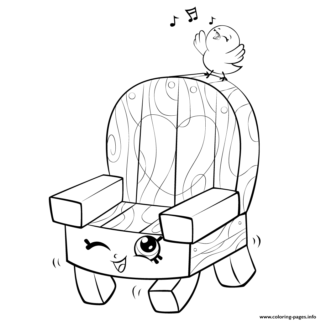 Print Garden Chair And Bird Shopkins Season 5 Coloring Pages