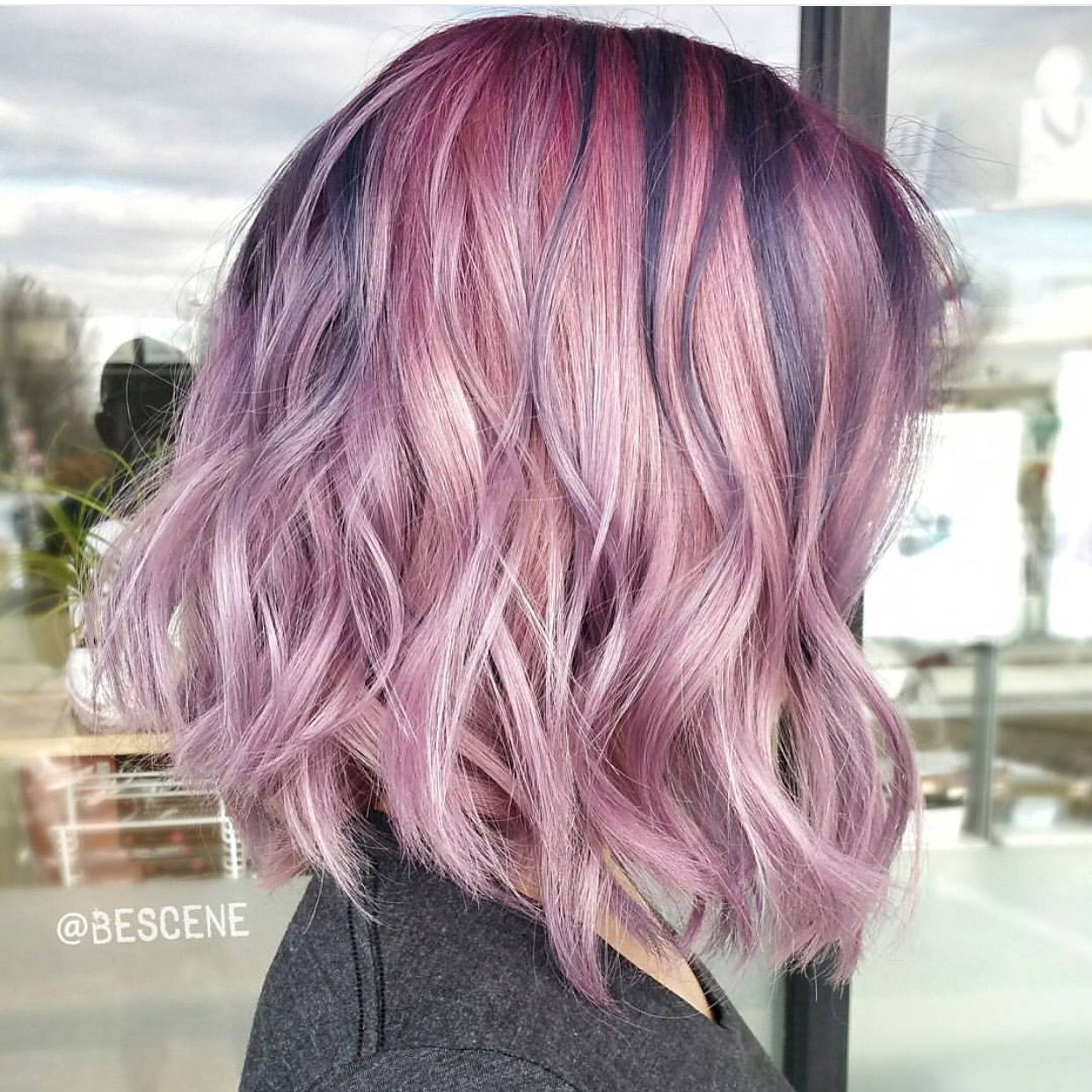 Pearlescent Pink Hair Colors With Deeper Metallic Undertones By Linh Phan Hotonbeauty