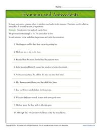 Pronouns and Antecedents | Worksheets, Students and ...
