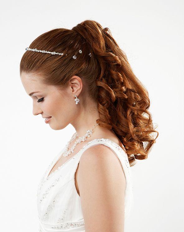 55 Frisuren halboffen  Beauty Styling Braut Brutigam