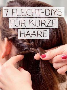 Kurze Haare Flechten Frisuren Mit Anleitung Flechtfrisuren