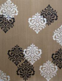 Ornamental Flower Wall Stencil | Wall stenciling, Flower ...